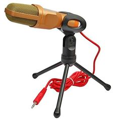 3.5mm Studio Professional Microphone Mic with Stand For Audio Sound Recording Skype Desktop PC Laptop Notebook - Brought to you by Avarsha.com