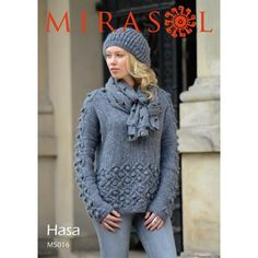 Cable and Bobble Sweater in Mirasol Hasa - 5016