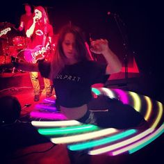 Instagram media by adriennecolna - #HulaHooping to my favorite #band & #singer @craig_horner in my new favorite #CULPRIT Tshirt by #LaCulprit #Lightup #ithacatheband #Fashion #Music #Festival #Charity #Fundraiser for #Leukemia #CulpritsWithaHeart