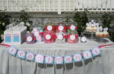 cute take on the candy bar for a   spa party