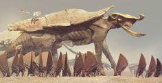 Personal work for Ballistic Publishings Essence:Creatures Alien Creatures, Fantasy Creatures, Mythical Creatures, Concept Art Alien, Creature Concept Art, Fantasy Monster, Monster Art, Creature Feature, Creature Design