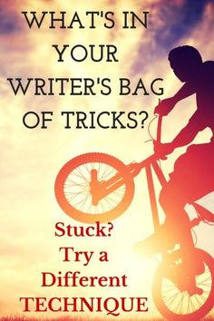 Stuck in Revision? Pull out your writer's bag of tricks and try something different. I've found that no two novels are written the same way: I use similar techniques, but in a different order; or I preference one technique over another. Don't be rigid in your writing process. Instead, let the story tell you what tools to pull out of your bag of tricks.
