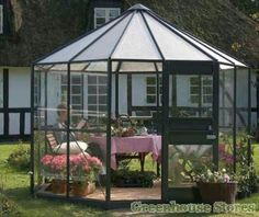 Eden Pleiades octagonal greenhouse 3 mm horticultural glass or 3 mm toughened polycarbonate roof small summer house buy now garden chic