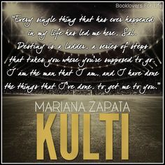 Kulti by Mariana Zapata ♥ (Click to read my review) #book #quote