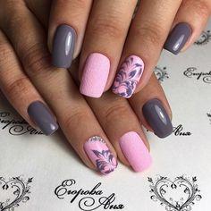 Beautiful patterns on nails, Dating nails, Fashion nails 2017, Grey and pink nails, Nail designs with pattern, Pink dress nails, Stylish nails, Summer nail art