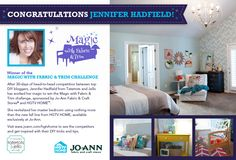 Congrats Jennifer! Your use of the fabric was absolutely stunning!!!