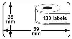 Dymo 99010 adresetiketten. Zeer geschikt voor enveloppen, dozen en andere verpakkingsmaterialen.