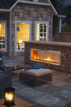 31 Fabulous Outdoor Fireplace Ideas You Should Copy Now - Are you interested in an outdoor firepit? An outdoor fireplace can be an amazing attraction on your patio, or use anywhere in the yawn. Outdoor Gas Fireplace, Linear Fireplace, Outdoor Fireplace Designs, Backyard Fireplace, Gas Fireplaces, Fireplace Ideas, Fireplace Inserts, Fireplace Wall, Backyard Patio Designs