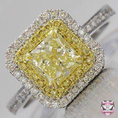 yellow Fancy Diamond Engagement Ring