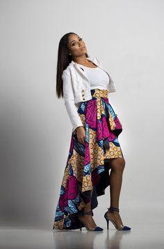 Africain Anne Sophie haut bas jupe par NomoseCouture sur Etsy
