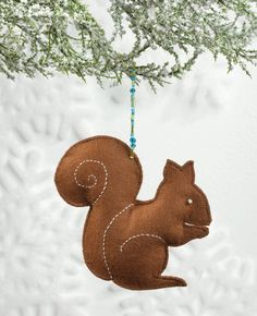 Handmade squirrel ornament from Sew Merry and Bright. He's adorable!