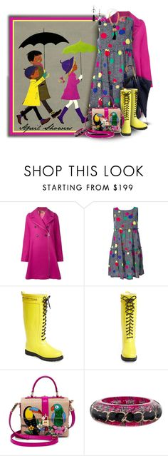 """""""April Showers, illus. by Elisabeth Brozowska"""" by franceseattle ❤ liked on Polyvore featuring N°21, Retrò, Boutique Moschino, Ilse Jacobsen Hornbaek, Dolce&Gabbana, Chanel and Chico's"""