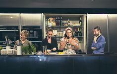 #FashionFood - Food Experience - Mondadori #ricetta - #MFW Milano 21-23 Settembre 2013 #SaleePepeMag #Grazia -  Laura Maragliano con Anna Marconi (Taste of Runway), Benedetta Bruzziches e Gabriele Verratti di Grazia.it