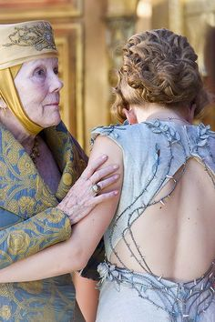 "Margaery Tyrell was weeping in her grandmother's arms as the old lady said, ""Be brave, be brave."""