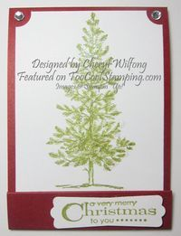 Chery's Matchbook Gift Card Holder - easy stocking stuffers www.toocoolstamping.com