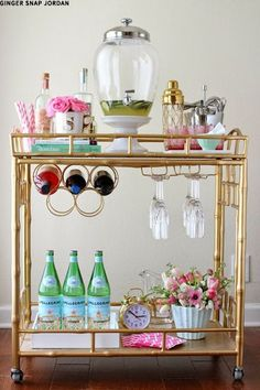 I definitely intend to have a drinks trolley.....with at least one bottle of bubbles!: