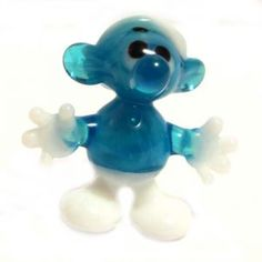 Smurf mini glass figurine