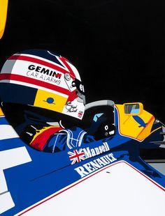 Mansell/Williams F1. Hand-cut vinyl motorsport art. More at www.joelclarkartist.carbonmade.com