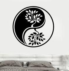 wall decal yin yang wood metal - Google Search