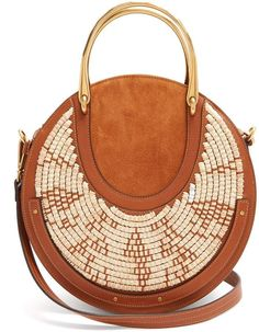 CHLOE Pixie leather and raffia cross-body bag #handbags