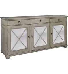 Not for my house, but pretty. Deauville Sideboard from the Suzanne Kasler collection by Hickory Chair Furniture Co.