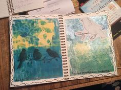 Gelli fun. The ghost print is too cool. by Miki