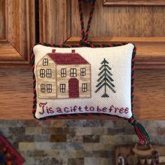Tis a Gift to be Free  Christmas Cross Stitch