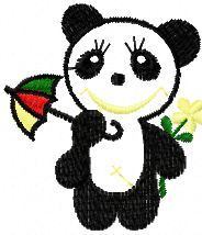 Panda free machine embroidery design. Machine embroidery design. www.embroideres.com