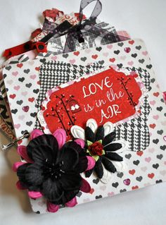 Love is in the Air mini chipboard album by SoScrappyHappy on Etsy, $20.00