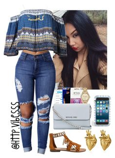 """""""Untitled #929"""" by jazaiah7 ❤ liked on Polyvore featuring Steve Madden, MICHAEL Michael Kors, Ty-Lite and StrangeFruit"""