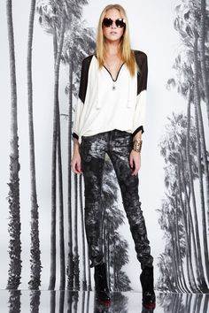 juicy couture fall '13  live that the floral print is done in silver rather than white.  more subtle  easier to wear