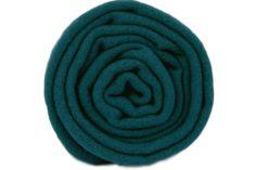 Écharpe bleu vert canard en laine homme et femme - Blue green lambswool scarf man and woman