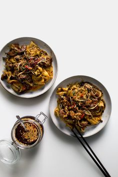 Recipe to recreate Xian Famous Foods' Spicy Cumin Lamb Hand-Smashed Noodles