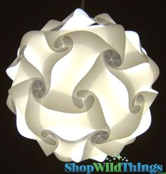Jigsaw Lamp, White Puzzle Lamp, PolyLights, Plastic Polycarbonate Lamps, Plastic Shapes Chandeliers, Hanging Shapes Origami Lamps Medium White, Retail Store Lighting, party Lighting, Outdoor Party Lights