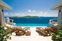 Perched on the edge of a cliff, overlooking the undeveloped island of Great St. James, Villa One is one of the newest additions to the St. Thomas repertoire of fine villas. From the moment you open the doors you are swept to sea by the alluring infinity pool and panoramic view.