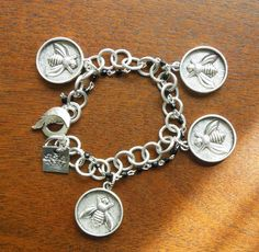 ≗ The Bee's Reverie ≗  Bumble Bee Charm Bracelet by Fabricofmylife,