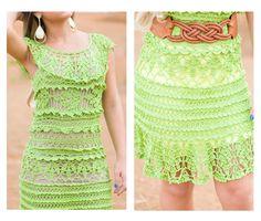 Летнее платье крючком. #crochet_summer_dress #crochet_dress