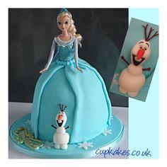 disneys frozen elsa doll cake