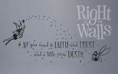 Fairy Pixie Dust Kids Wall Decals, Vinyl Art Stickers