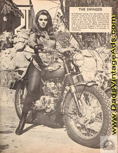 Classic photo of Ann Margaret on a Triumph....2 of my favorites