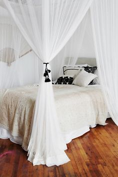 Geo Lace Four Point Queen Canopy | Free People Up your beauty-sleep ante with this vintage-inspired canopy.