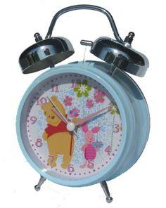 Disney Winnie the Pooh Metal Twin Bell Alarm Clock