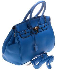 Mooie blauwe tas van Giuliano.  Afmeting 30x28cm www.angelcosmetic.nl