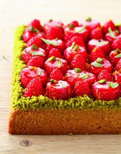 Recette de sablé breton et fraises par Christophe Adam