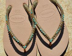Flip Flops Havaianas Hippie Sandals Beaded Flip Flops
