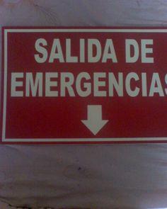 Letrero de Salida de Emergencia
