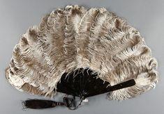 1890 Fan Culture: American Medium: feathers, tortoiseshell, silk ribbon