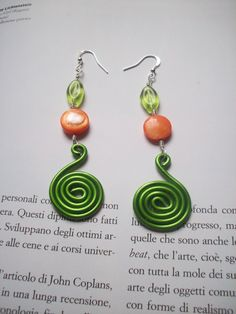 Colored Aluminium Earrings with resin and glass beads. €7.50, via Etsy.
