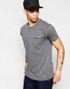 Brave+Soul+T-Shirt+in+Sleeve+Dot+Print