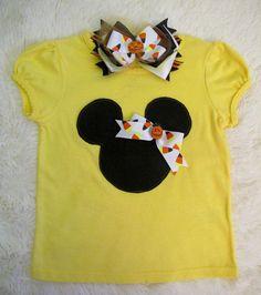 Minnie Mouse Fall 3 pc Tutu Set   Minnie Mouse Tutu by cd1ofakind